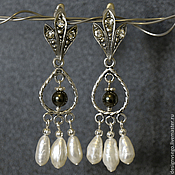 Украшения handmade. Livemaster - original item Pearl earrings. Handmade.