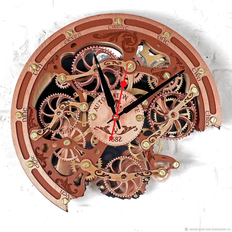 Часы для дома ручной работы. Ярмарка Мастеров - ручная работа. Купить Часы настенные Автоматон Bite. Handmade. Стимпанк, необычный
