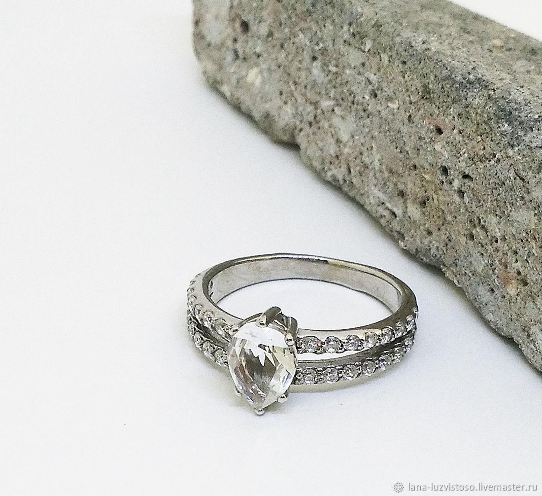 Серебряное кольцо с фианитами №4 (серебро 925 пробы)