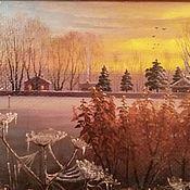 Картины и панно handmade. Livemaster - original item Copyright picture the Breath of winter. Handmade.