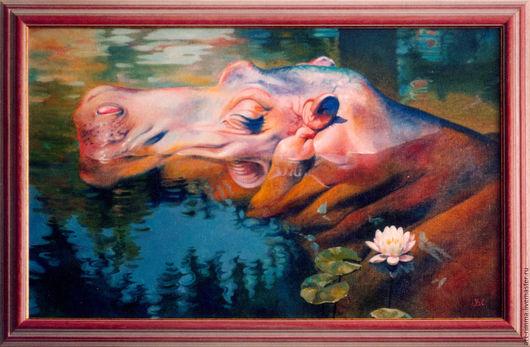 Животные ручной работы. Ярмарка Мастеров - ручная работа. Купить Полуденный сон.. Handmade. Картина в подарок, картина в детскую