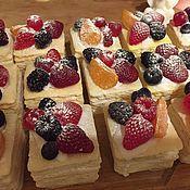 Косметика ручной работы. Ярмарка Мастеров - ручная работа Мыло торт наполеон с ягодками. Handmade.