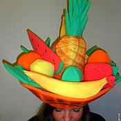 """Работы для детей, ручной работы. Ярмарка Мастеров - ручная работа шапка из  поролона """"Корзина фруктов """". Handmade."""