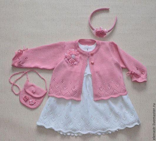 Одежда для девочек, ручной работы. Ярмарка Мастеров - ручная работа. Купить Комплект для маленькой девочки. Handmade. Бледно-розовый, для детей