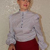 Одежда handmade. Livemaster - original item Blouse made of cotton Olga. Handmade.