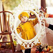 Работы для детей, handmade. Livemaster - original item Yellow coat beret. Handmade.