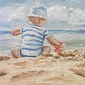 Для дома и интерьера handmade. Livemaster - original item Picture of Bake mud pies oil on canvas 18-24cm. Handmade.