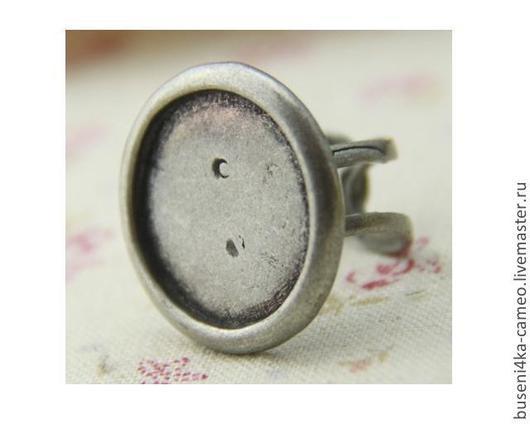 Для украшений ручной работы. Ярмарка Мастеров - ручная работа. Купить Основа для кольца Круг 20мм, античное серебро (1шт). Handmade.