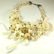 Украшения handmade. Livemaster - original item Vanilla Lace Gave. Necklace. Handmade.