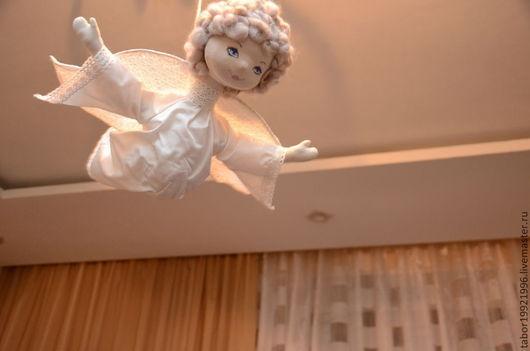 """Коллекционные куклы ручной работы. Ярмарка Мастеров - ручная работа. Купить Каркасная кукла """"Веселый  Ангел"""". Handmade. Веселый ангел"""