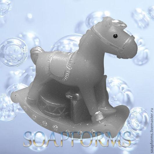 """Силиконовая форма для мыла """"Лошадка-качалка"""""""