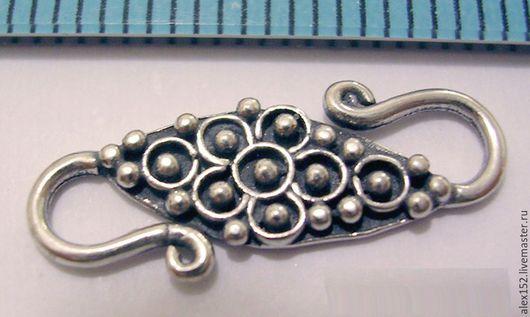 Для украшений ручной работы. Ярмарка Мастеров - ручная работа. Купить Серебро 925 ( окс) замок крюк 19 х6 мм. Handmade.
