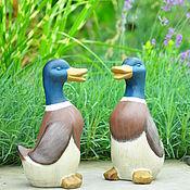 Дача и сад handmade. Livemaster - original item Concrete Duck figurine for garden decor in the style of Provence Shabby. Handmade.