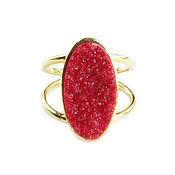 "Украшения handmade. Livemaster - original item Ring ""Anticipation""red ring, agate ring. Handmade."