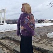 """Одежда ручной работы. Ярмарка Мастеров - ручная работа Куртка с ламой """" Цветочная поляна """" - 3. Handmade."""