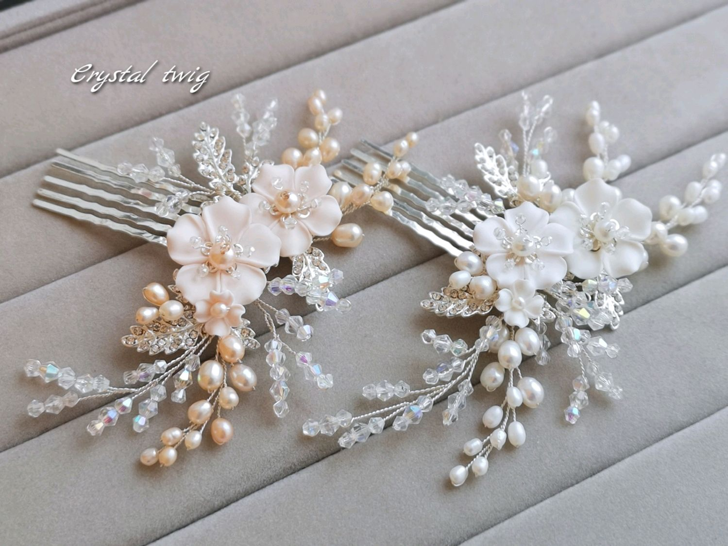 Small Peach crest tenderness, Hair Decoration, Moscow,  Фото №1