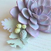 Украшения ручной работы. Ярмарка Мастеров - ручная работа Заколка-зажим с каменной розой. Handmade.