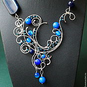 Украшения handmade. Livemaster - original item Necklace Downton Abbey (variant of blue). Handmade.