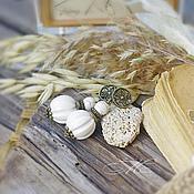"""Украшения ручной работы. Ярмарка Мастеров - ручная работа Серьги """" Muffin"""" с белым деревом. Handmade."""