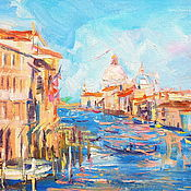 Картины и панно handmade. Livemaster - original item Oil painting on canvas, 35/25. The Grand canal of Venice.. Handmade.
