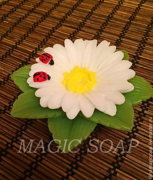 """Мыло ручной работы. Ярмарка Мастеров - ручная работа. Купить цветочное мыло """"Ромашка """". Handmade. Мыло ручной работы"""