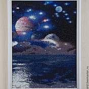 """Картины и панно ручной работы. Ярмарка Мастеров - ручная работа Картина-панно """"К звездам"""" (алмазная мозаика, картина из стразов). Handmade."""