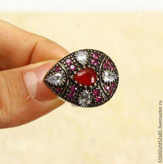 """Кольца ручной работы. Ярмарка Мастеров - ручная работа. Купить Кольцо """"Мехрибан"""" из серебра.. Handmade. Ярко-красный, перстень"""