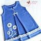 """Одежда для девочек, ручной работы. Ярмарка Мастеров - ручная работа. Купить Комплект для девочки """"Малышка-2"""". Handmade. Синий, сарафан"""