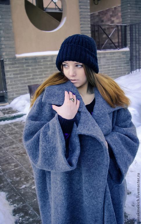 """Верхняя одежда ручной работы. Ярмарка Мастеров - ручная работа. Купить Пальто- кокон """"Street-fashion"""". Look1. Handmade. Серый"""
