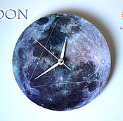 """Для дома и интерьера ручной работы. Ярмарка Мастеров - ручная работа Часы """"Луна"""". Handmade."""