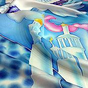 """Аксессуары ручной работы. Ярмарка Мастеров - ручная работа Шелковый платок """"МУТАБОР"""". Батик.. Handmade."""