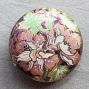 """Бусины ручной работы. Ярмарка Мастеров - ручная работа Бусина Тенша """"Пион"""" в форме монеты 25 мм. Handmade."""