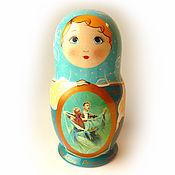 Русский стиль handmade. Livemaster - original item Matryoshka with the plot. Handmade.