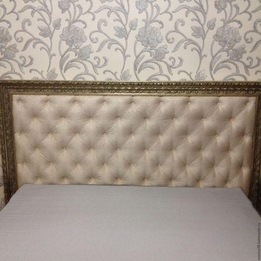 Мебель ручной работы. Ярмарка Мастеров - ручная работа. Купить кровать. Handmade. Бежевый, флок