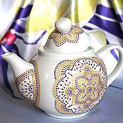 """Посуда ручной работы. Ярмарка Мастеров - ручная работа """"Золотой цветок"""" чайник заварочный. Серия Чайная посуда. Handmade."""
