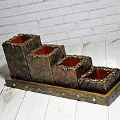 Канцелярские товары handmade. Livemaster - original item Pencil holders: set