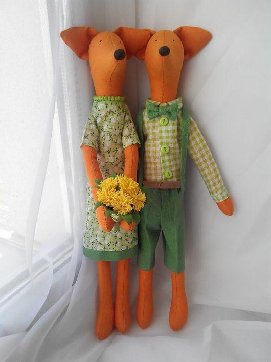Замечательная парочка тильда-лисичек, станет прекрасным подарком и украсит любой интерьер)) Стоимость за пару.
