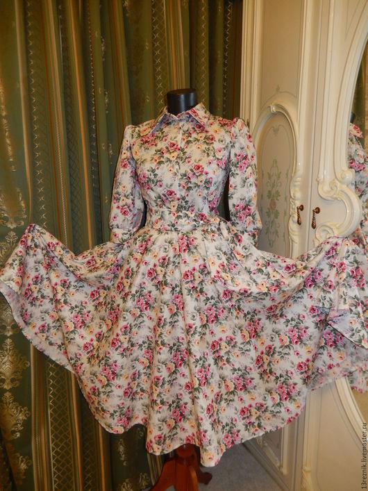 Платья ручной работы. Ярмарка Мастеров - ручная работа. Купить Платье розы.. Handmade. Платье, для девочки, цветочный, розы