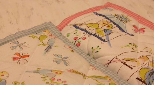 Пледы и одеяла ручной работы. Ярмарка Мастеров - ручная работа. Купить Детское одеялко Райские птички. Handmade. Розовый