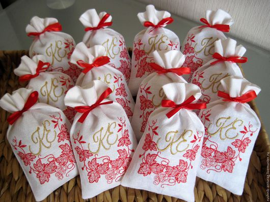 Свадебные бонбоньерки, Ароматические саше, Монограмма, Свадебный салон, Свадебные аксессуары, Подарок гостям, Свадебный подарок