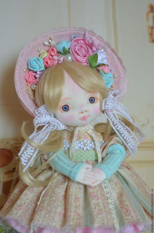 Коллекционные куклы ручной работы. Ярмарка Мастеров - ручная работа. Купить Луиза. Handmade. Мятный, ручная работа, кожа