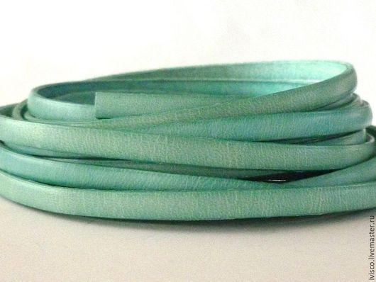 Для украшений ручной работы. Ярмарка Мастеров - ручная работа. Купить Кожаный шнур 5х2мм  мятный матовый. Handmade.