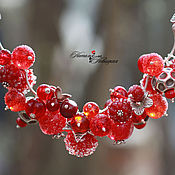 Украшения ручной работы. Ярмарка Мастеров - ручная работа Колье «Зимние ягоды». Handmade.