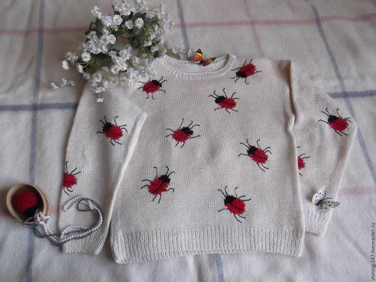Одежда для девочек, ручной работы. Ярмарка Мастеров - ручная работа. Купить Джемпер для девочки. Handmade. Кремовый, шерсть 100%