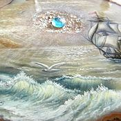 Картины и панно handmade. Livemaster - original item The stone mural of the sea painted