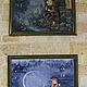 """Фантазийные сюжеты ручной работы. Картина маслом в детскую """"Ловец счастья"""". Картины и декупаж от СветЛаны Визун (sunnyshop). Ярмарка Мастеров."""