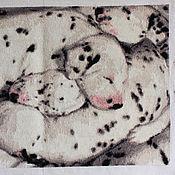 """Картины и панно ручной работы. Ярмарка Мастеров - ручная работа Вышивка - картина """"Долматинцы"""". Handmade."""