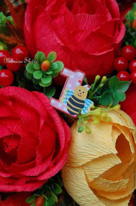 """Букеты ручной работы. Ярмарка Мастеров - ручная работа. Купить Букет из конфет """"Любимому воспитателю"""". Handmade. Рыжий"""
