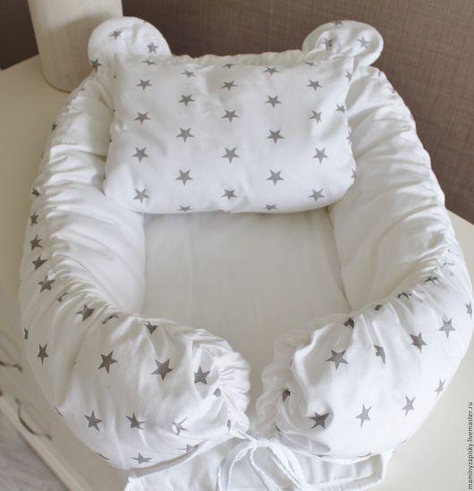Для новорожденных, ручной работы. Ярмарка Мастеров - ручная работа. Купить кокон babynest+подушечка декоративная. Handmade. Babynest, малышам, коконы