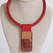 Украшения handmade. Livemaster - original item Necklace made of leather and Jasper. Collection of ART. Handmade.